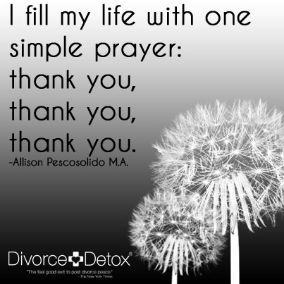 I fill my life with one simple prayer: thank you, thank you, thank you. - Allison Pescosolido M.A.