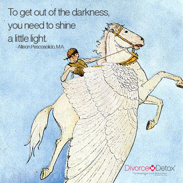 To get out of the darkness, you need to shine a little light. - Allison Pescosolido, M.A.