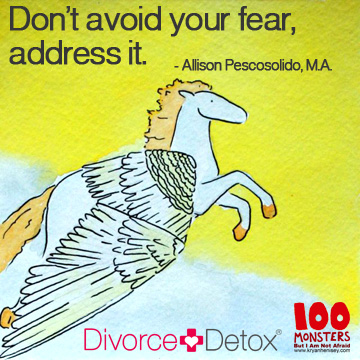Don't avoid your fear, address it. - Allison Pescosolido, M.A.